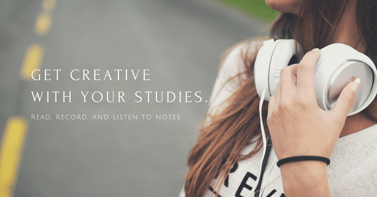 get creative with your studies